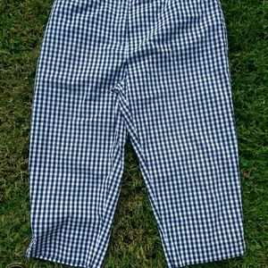 Ralph Lauren womens gingham capri